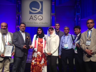 DQG Member Dubal wins ASQ 2014 Team Award