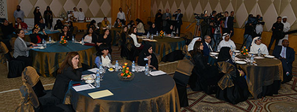 Attendees at the launch of Emirates Women Award on 7 Jan 2014